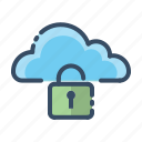 cloud, secure, security, unlock icon