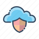cloud, security, shield, protection