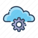 cloud, service, setting, tool icon