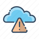 alert, attention, cloud, danger icon