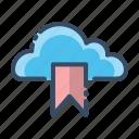 bookmark, cloud, mark, pin icon
