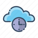 alarm, clock, cloud, time icon