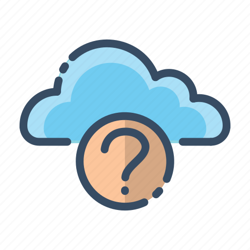 cloud, help, question, what icon