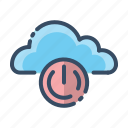 cloud, off, offline, power off icon