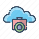 camera, cloud, images, photo icon