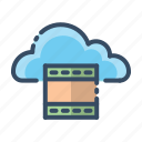 cloud, play, record, video icon