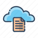cloud, doc, document, text icon