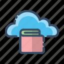 cloud, document, file, folder icon