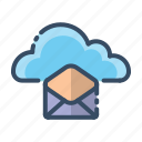 chat, cloud, email, message icon
