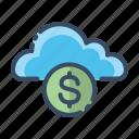 buy, cloud, money, price icon
