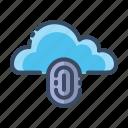 cloud, finger print, security, lock