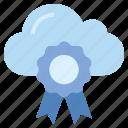 award, cloud, internet, medal, position, prize, storage