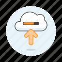 computing, storage, cloud, internet, uploading, transfer, service, upload, network, bar, sync icon