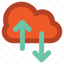 cloud computing, cloud hosting, download, information technology, upload, wireless communication, wireless internet icon