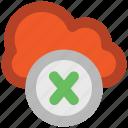 cloud delete, delete sign, disconnected network, disconnection, disconnectivity, icloud, icloud cancel