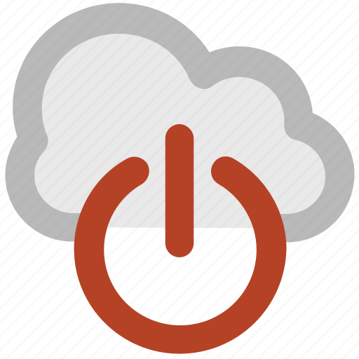 cloud, cloud computing, logoff, network off, power button, powerful service, service shutdown icon