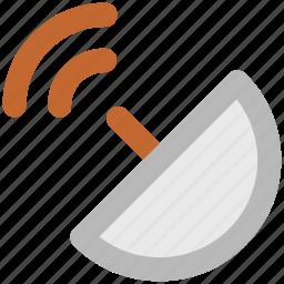 communication, dish antenna, parabolic antenna, satellite dish, space, sputnik antenna, technology icon