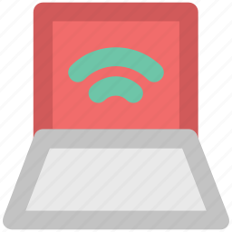 connectivity concept, internet, internet coverage, laptop screen, network fidelity, wifi zone, wireless signals icon