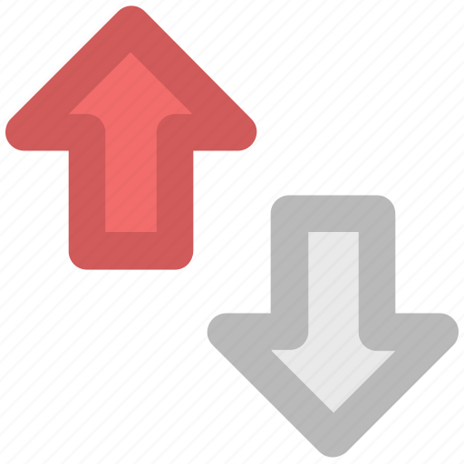 arrow pointing, arrows, arrows indication, down, hints, indicators, up arrow icon
