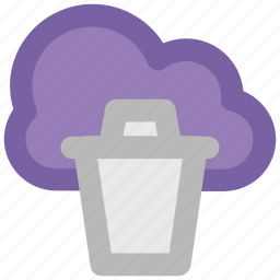 cloud computing, cloud network, cloud recyclebin, modern technology, network hosting, network services, wireless network icon