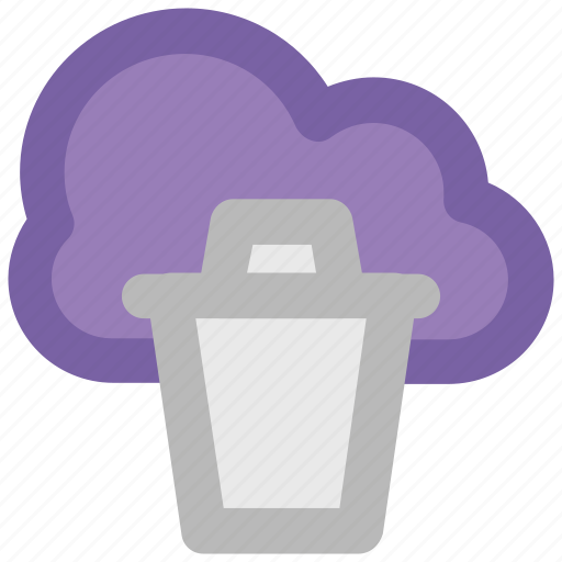 Cloud computing, cloud network, cloud recyclebin, modern technology, network hosting, network services, wireless network icon - Download on Iconfinder