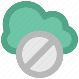 ban, ban server, cloud computing, disallow, forbid sign, icloud, restricted sign icon