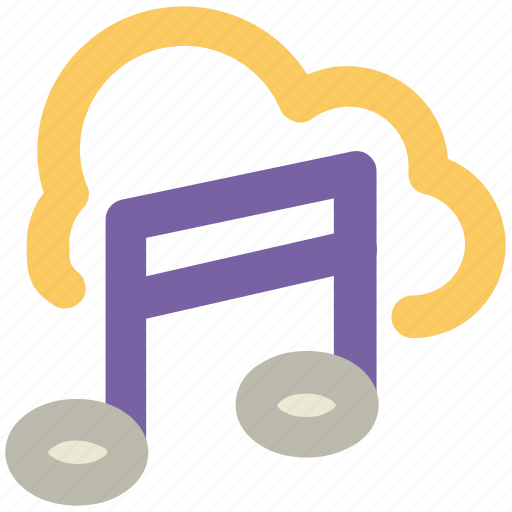 cloud entertainment, cloud multimedia, cloud music, cloud music concept, icloud, wireless network, wireless technology icon