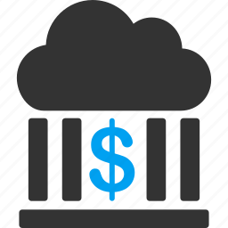 bank, banking, business, cloud, finance, financial, money icon