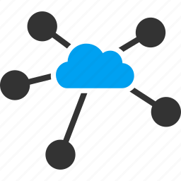 cloud, company, connection, connections, internet, network, relations icon