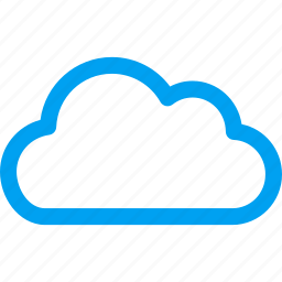 clouds, cloudy, contour cloud, service, storage, technology, weather forecast icon