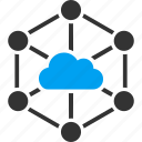 cloud, links, internet, connection, network, service, technology