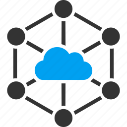 cloud, connection, internet, links, network, service, technology icon