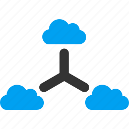 cloud, communication, connection, connections, internet, links, network icon