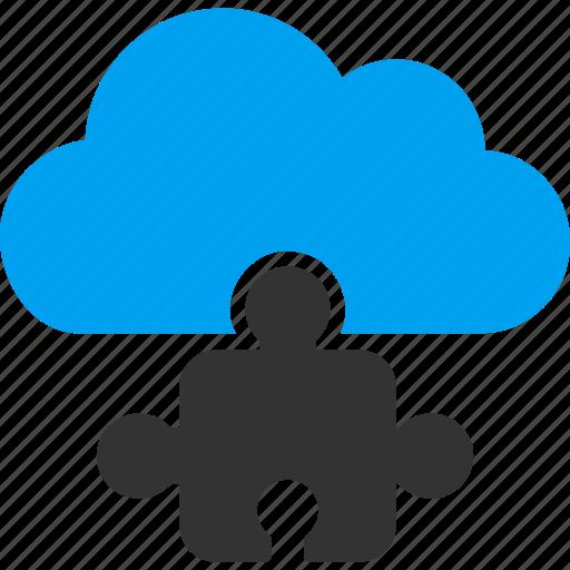 bundle, cloud, component, part, piece, plugin, puzzle icon