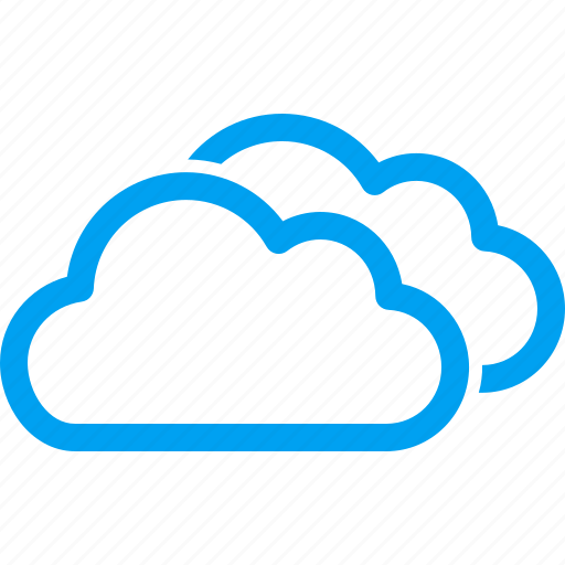 cloud infrastructure, clouds, cloudy, contour, forecast, weather icon