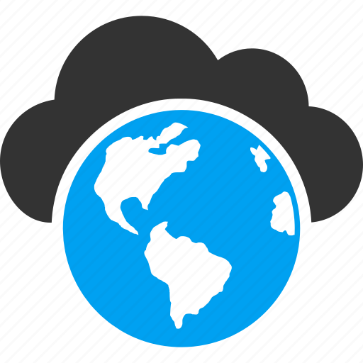 cloud, earth, global business, globe, map, seo, world weather icon