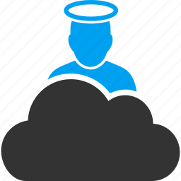 angel, christian, cloud, god, jesus, religion, religious icon