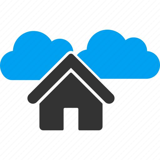 building, cloud, clouds, cloudy, home, house, weather forecast icon