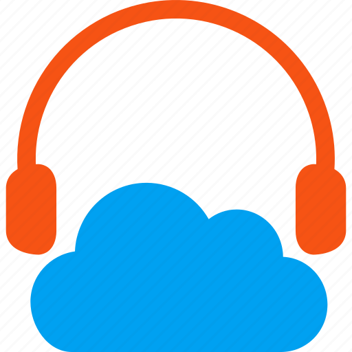 audio, cloud, headphone, headphones, listen, music, sound icon