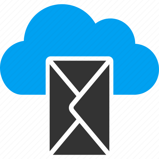 cloud, communication, email, envelope, letter, mail, message icon