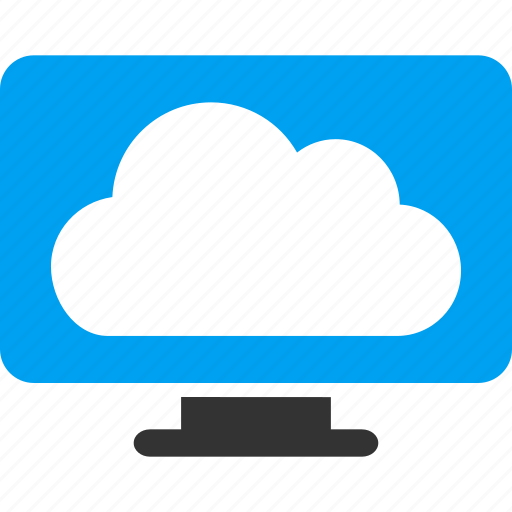 cloud, cloudy, computer, desktop, display, monitor, weather icon