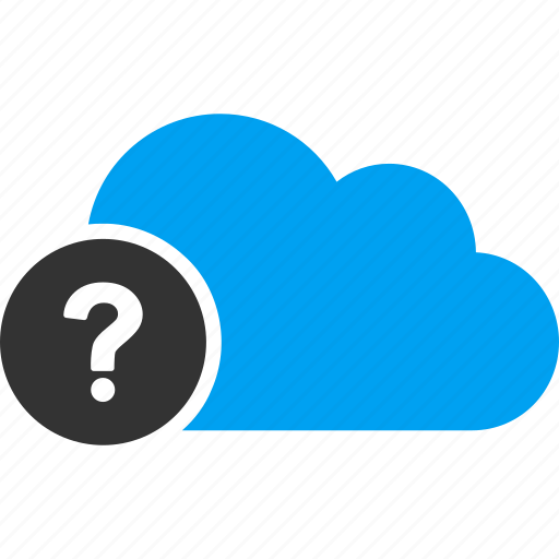cloud, help, information, problem, query, question mark, support icon