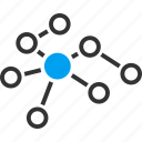 cloud structure, connection, link building, marketing, network, relations, social links icon