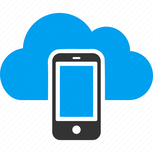cloud service, communication, device, mobile, phone, smartphone, telephone icon