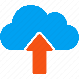 cloud, download, export, move, send, up arrow, upload icon