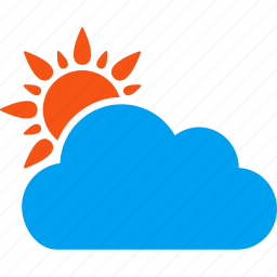 cloud, clouds, forecast, predict, rain, sun, weather prediction icon
