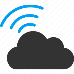 cloud, mobile connection, radio, signal, wi fi, wifi, wireless icon