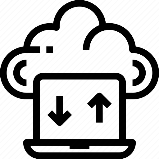 Arrow, cloud, computer, connect, network, storage icon - Download on Iconfinder