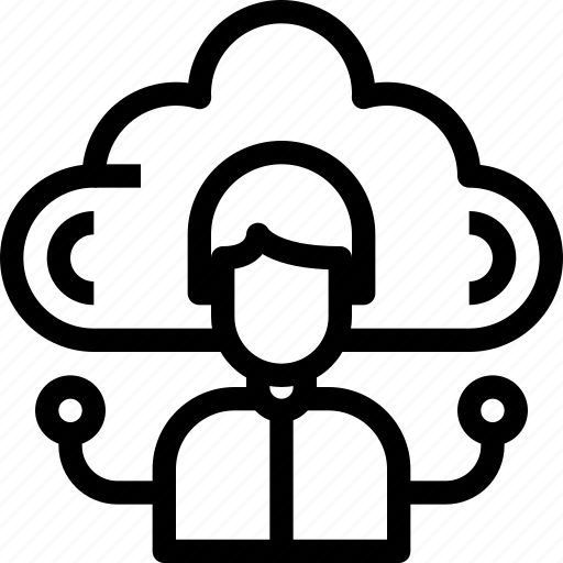Cloud, connect, human, network, people, user icon - Download on Iconfinder