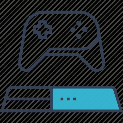 analog, cloud, computing, games, play, stick icon